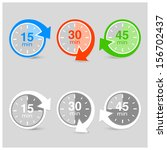 set of vector timers with arrows | Shutterstock .eps vector #156702437