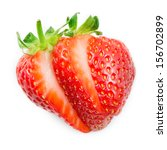 strawberry. sliced fruit... | Shutterstock . vector #156702899