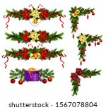 christmas decorations with fir... | Shutterstock .eps vector #1567078804