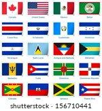 sticker flags america | Shutterstock .eps vector #156710441