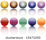 shiny button vector | Shutterstock . vector #15671050