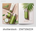 refreshing green tea skincare... | Shutterstock .eps vector #1567106224