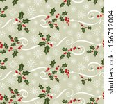 seamless christmas pattern | Shutterstock .eps vector #156712004