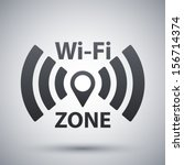 vector wi fi network icon | Shutterstock .eps vector #156714374