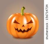 halloween pumpkin | Shutterstock .eps vector #156714734