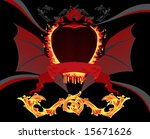 background with burning blazon... | Shutterstock .eps vector #15671626
