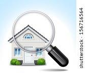 magnifying glass isolated white ... | Shutterstock .eps vector #156716564