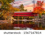 A Beautiful Red Covered Bridge...