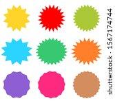 starburst and sunburst icon set ...   Shutterstock .eps vector #1567174744