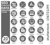 seo data computer analysis icon ...   Shutterstock .eps vector #156721295