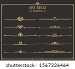 set of art deco gold... | Shutterstock .eps vector #1567226464