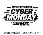 cyber monday promotion banner.... | Shutterstock .eps vector #1567240174