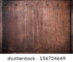 old metal background with rivets | Shutterstock . vector #156724649