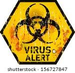 computer virus alert sign ...   Shutterstock .eps vector #156727847