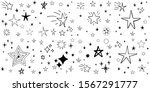 stars doodle set. hand drawn...   Shutterstock .eps vector #1567291777