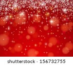 Red Background With Snowflakes...
