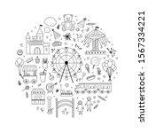 amusement park line icons...   Shutterstock .eps vector #1567334221