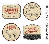 set of vintage homemade... | Shutterstock .eps vector #156736181