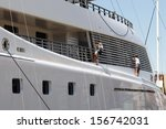 maintenance in a luxury yacht | Shutterstock . vector #156742031