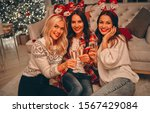 merry christmas and happy new... | Shutterstock . vector #1567429084
