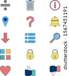 15 icon set of basic elements...