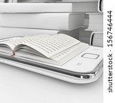 e book 3d concept   book... | Shutterstock . vector #156746444