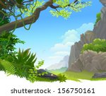 hilly amazon rain forest | Shutterstock .eps vector #156750161