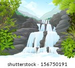 Waterfall In Hills