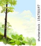 mist in oriental rain forest | Shutterstock .eps vector #156750197