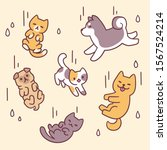 it's raining cats and dogs ... | Shutterstock .eps vector #1567524214
