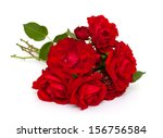 Stock photo red roses over white 156756584