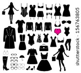 clothes and accessory | Shutterstock .eps vector #156763805