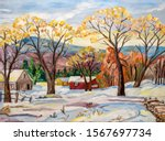 Original Oil Painting Of A...