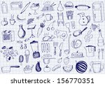 kitchen objects | Shutterstock .eps vector #156770351
