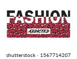 fashion letter typography with... | Shutterstock .eps vector #1567714207