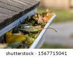 Closeup Of House Rain Gutter...