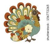 happy thanksgiving beautiful... | Shutterstock .eps vector #156772265