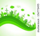 illustration of ecology concept ... | Shutterstock .eps vector #156773495