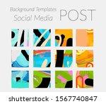 creative backgrounds for social ... | Shutterstock .eps vector #1567740847