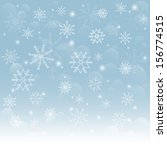 christmas snowflakes background....   Shutterstock .eps vector #156774515