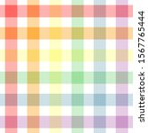 plaid rainbow repeat pattern.... | Shutterstock .eps vector #1567765444