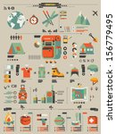 camping and hiking info graphic ... | Shutterstock .eps vector #156779495