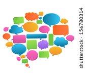 speech bubbles | Shutterstock .eps vector #156780314