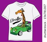 giraffe t shirt graphics cute... | Shutterstock .eps vector #156781307