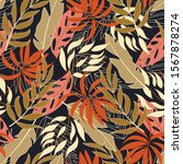 trend seamless tropical pattern ... | Shutterstock .eps vector #1567878274