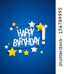 happy birthday card with...   Shutterstock .eps vector #156789995