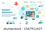 financial analysis  control and ... | Shutterstock .eps vector #1567911427
