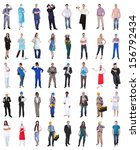 multi ethnic group of people... | Shutterstock . vector #156792434