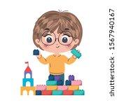 boy cartoon design  toys... | Shutterstock .eps vector #1567940167