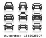 solid icons set  transportation ... | Shutterstock .eps vector #1568025907